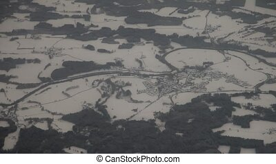 Flight Over Winter Landscape