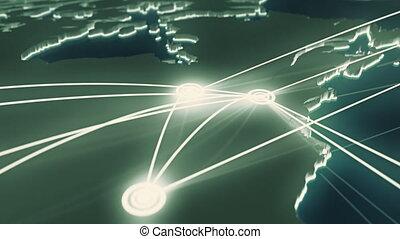 Flight paths North America. - Animation depicting flight...
