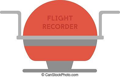 Flight recorder geometric illustration isolated on background