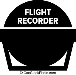 Flight recorder icon