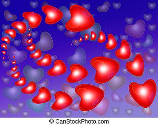 Flight red heart