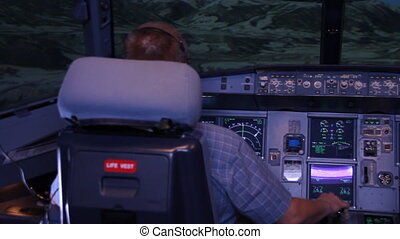 Flight simulator - Simulator for training pilots of the...