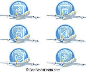 Flight status icon set