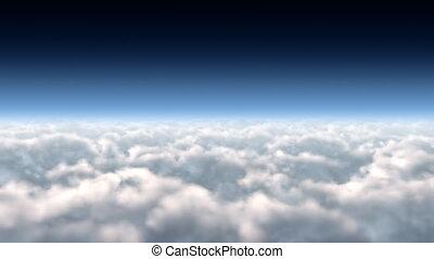FLIGHT THROUGH CLOUDS LOOP HD 023