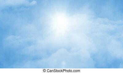 flight through sky
