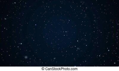 flight through space, warp speed on deep blue background