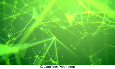 Flight through the abstract green network
