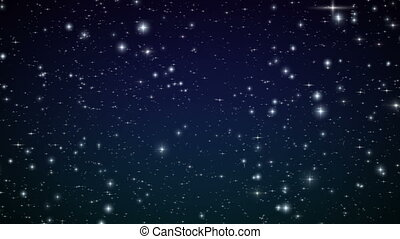 Flight through the stars. Looped%u044E