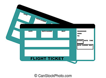 Flight Tickets - Illustration of two flight tickets,...