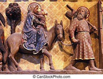 Flight to Egypt - Paris, Notre Dame cathedral, Flight to...