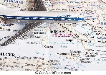 Flight to Italy
