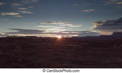 Flight towards the Sun near Needles District of the...
