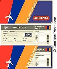 Flight trip for a flight to Armenia