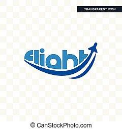 flight vector icon isolated on transparent background, flight logo design