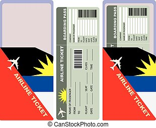 Flight with an envelope for Antigua and Barbuda