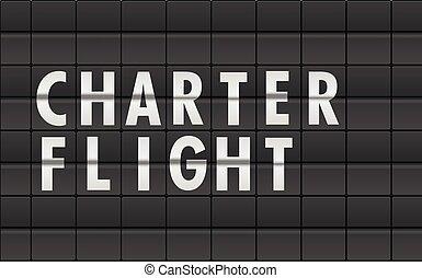 Flightboard Charter Flight - detailed illustration of an...