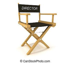 Flim industry: directors chair on white - Flim industry:...