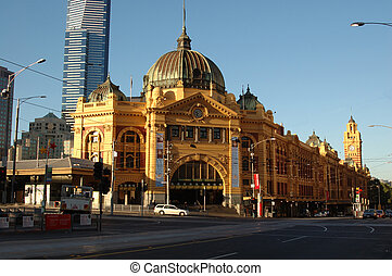 Flinders St Station - The entrance to Flinders Street...
