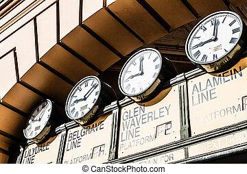 flinders, straße, station, der, eingang, zu, flinders, straße, station., australia, melbourne.