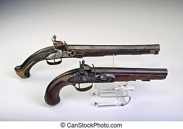 Flintlock Pistols. - French and English flintlock pistols...