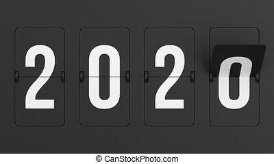 Flip black scoreboard 2021. 3D render