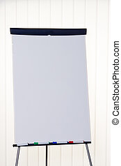 Flip chart in a classroom - flipchart in an empty classroom....