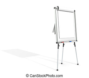 Flip Chart. - Side view of a Flip Chart and 2 marker pens. ...