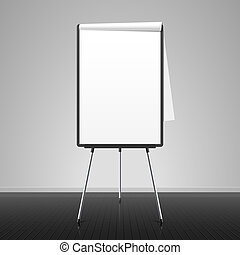 Flip chart vector illustration