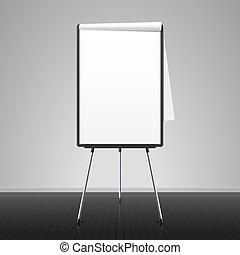 Flip chart vector illustration