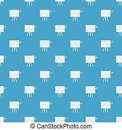 Flip chart with statistics pattern seamless blue