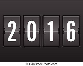 Flip clock 2016