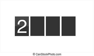Flip clock calendar 2019 - Flip clock. Calendar turning page...