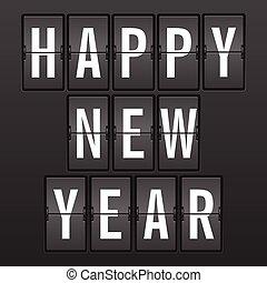 Flip clock happy new year
