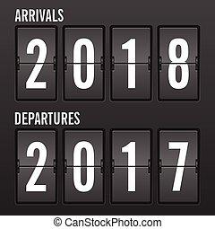 Flip clock new year