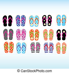 flip flop for the beach illustration