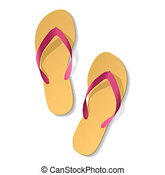 Flip-flop. Sandals. - Vector illustration of sandals