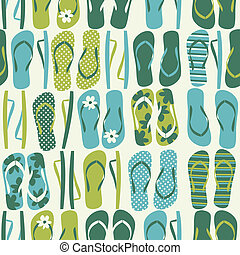 Flip Flops Background - Seamless pattern with flip flops in...