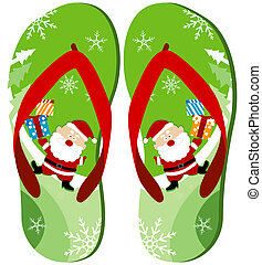 Flip Flops Design with Clipping Path