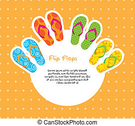flip flops - cute flip flops with space for copy over orange...