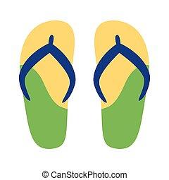 flip flops flat style icon