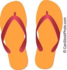 flip flops isolated