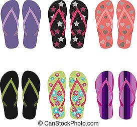 Flip flops set