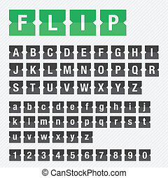 Flip Font Vector Set