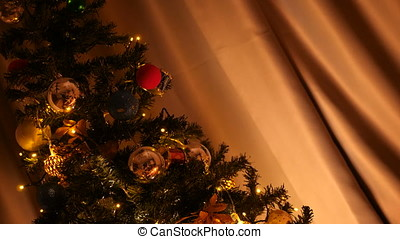 Flip shot on a Christmas tree from incline position to...