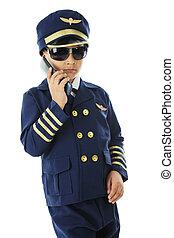 flip telefonera, kylig, pilot