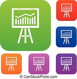 Flipchart with marketing data set collection