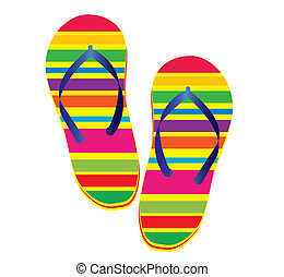 Flipflop - Raster illustration of a pair of flipflop