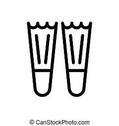 flipper  thin line icon