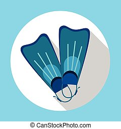 Flippers Snorkeling Diving Equipment Summer
