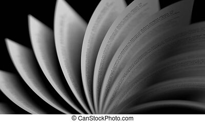 Flipping book pages, loopable clip - Turning book pages,...